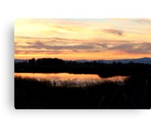 Sunset at Gray Lodge Canvas Print