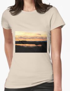 Sunset at Gray Lodge Womens Fitted T-Shirt