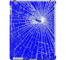Broken Glass 2 iPad Blue iPad Case/Skin