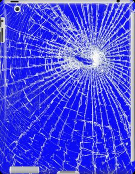Broken Glass 2 iPad Blue by Brian Carson