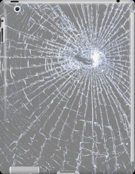 Broken Glass 2 iPad Gray by Brian Carson