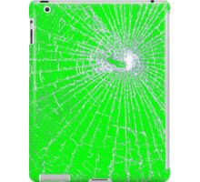 Broken Glass 2 iPad Green iPad Case/Skin
