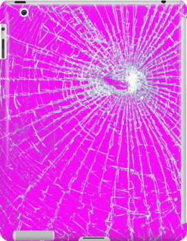 Broken Glass 2 iPad Pink by Brian Carson