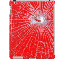 Broken Glass 2 iPad Red iPad Case/Skin