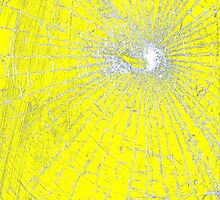 Broken Glass 2 iPad Yellow by Brian Carson