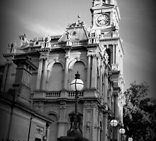 Post Office in Black and White by Lozzar Landscape