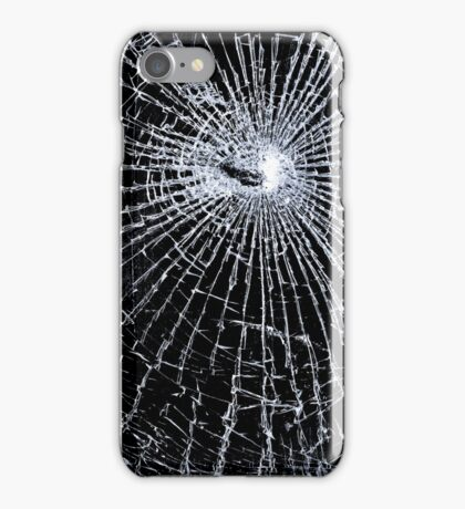 Broken Glass 2 iPhone Black iPhone Case/Skin