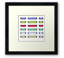buttons Framed Print