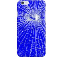 Broken Glass 2 iPhone Blue iPhone Case/Skin