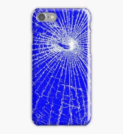 Broken Glass 2 iPhone Blue iPhone Case/Skin
