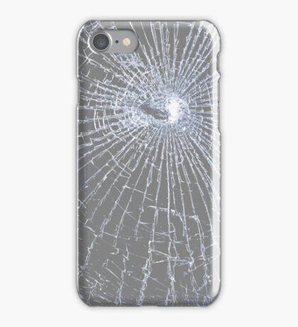 Broken Glass 2 iPhone Gray iPhone Case/Skin