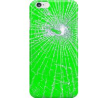 Broken Glass 2 iPhone Green iPhone Case/Skin