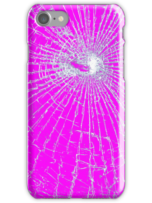 Broken Glass 2 iPhone Pink by Brian Carson