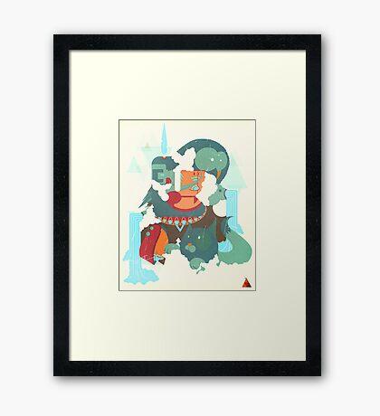 mayan print Framed Print