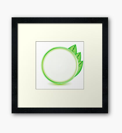 eco logo Framed Print