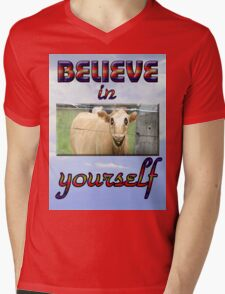 BELIEVE IN YOURSELF Mens V-Neck T-Shirt