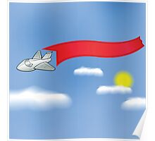 airplane and banner Poster