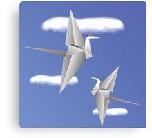 paper birds Canvas Print