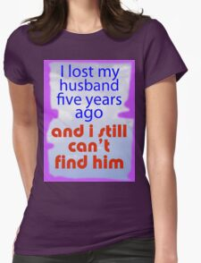 LOST AND FOUND Womens Fitted T-Shirt