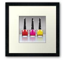 nail polish bottles Framed Print