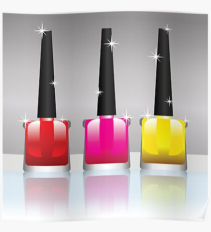 nail polish bottles Poster