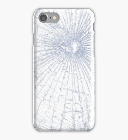 Broken Glass 2 iPhone White iPhone Case/Skin