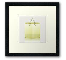 paper shopping bag Framed Print