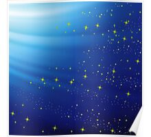 blue abstract background Poster