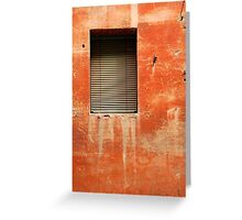 Window in Red Wall Greeting Card