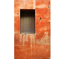 Window in Red Wall Photographic Print