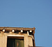 Window in Venice Against Blue Sky by jojobob