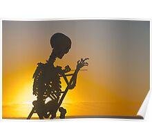 Skeletal Sunset Poster