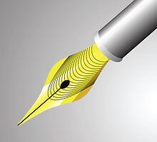 gold pen nib by valeo5