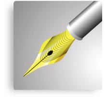 gold pen nib Canvas Print