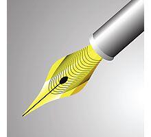 gold pen nib Photographic Print