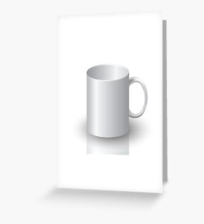 white mug Greeting Card