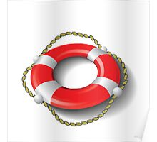 red lifebuoy Poster