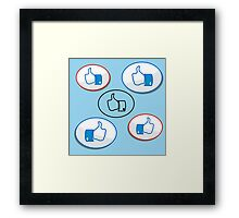 like button Framed Print