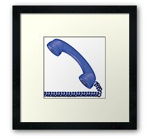 old telephone  Framed Print