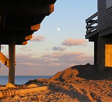 Sunset,on a full moon by debraroffo