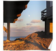 Sunset,on a full moon Poster