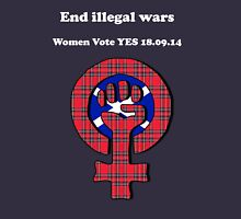 End Illegal Wars Womens Scottish Independence T-Shirt Womens Fitted T-Shirt