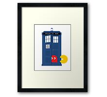 Dr. Who Tardis Pacman T Shirt Framed Print