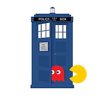 Dr. Who Tardis Pacman T Shirt Photographic Print