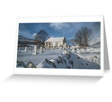 Winter in the Churchyard. Greeting Card
