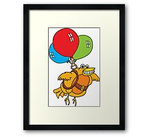 Balloon Bird Framed Print