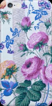 Pastel Flower Wallpaper iPhone iPod Case by wlartdesigns