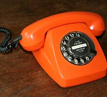 Orange Telephone by Stefanie Köppler