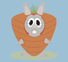 Carrot Bunny One Piece - Short Sleeve