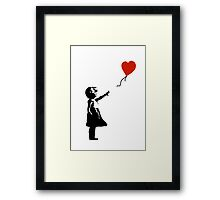 Girl with Balloons Framed Print